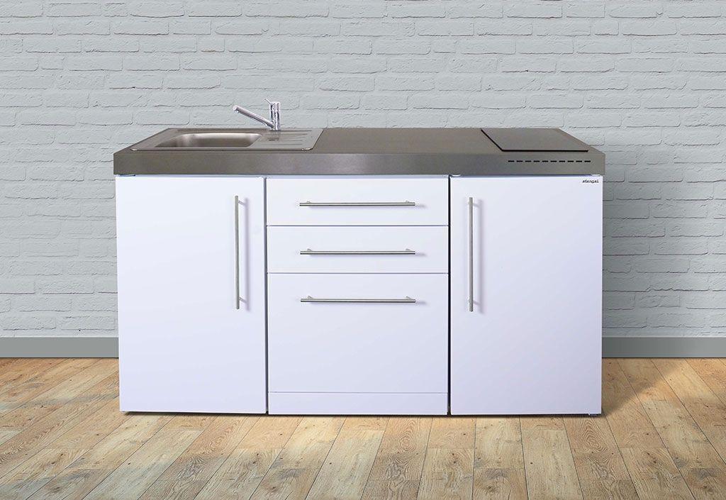 Stengel Mini-Cuisine avec Frigo, Lave-Vaisselle et Vitrocéramiques MPGS160 Blanche