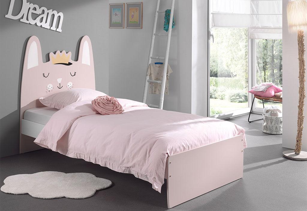 Vipack Lit pour Enfant en Bois 200 x 90 cm – Funny Princesse Lapin