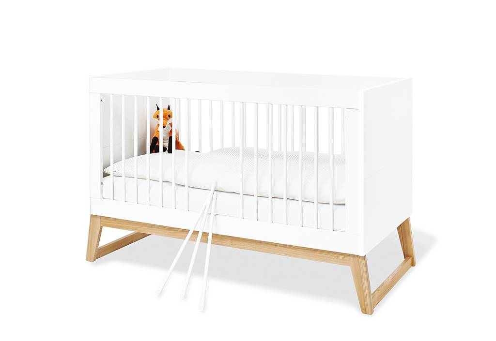 Pinolino Lit évolutif pour enfant en bois blanc 70 x 140 cm - Bridge