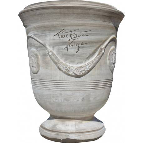 Terre Figuière Vase d'Anduze terre cuite Cérusé brun Terre Figuière