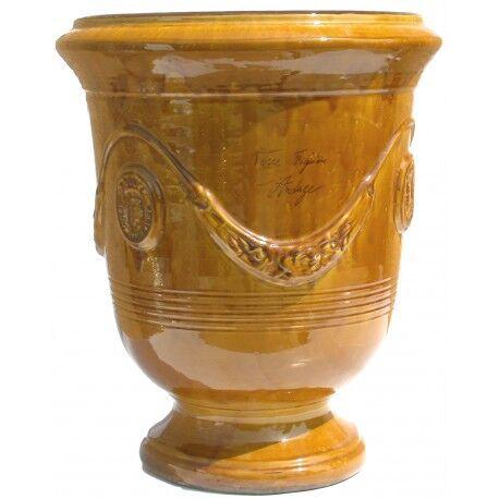 Terre Figuière Vase d'Anduze terre cuite émaillée Miel Terre Figuière