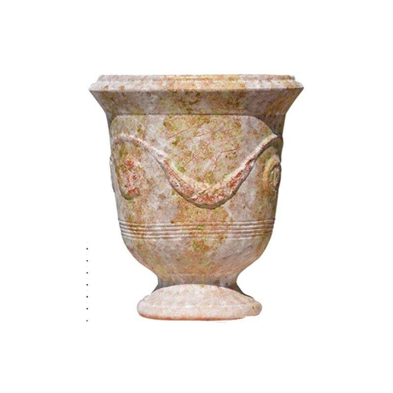 Terre Figuière Vase d'Anduze terre cuite Vieille patine Terre Figuière - Taille - Taille 1 : Haut 35 x Diam 32cm