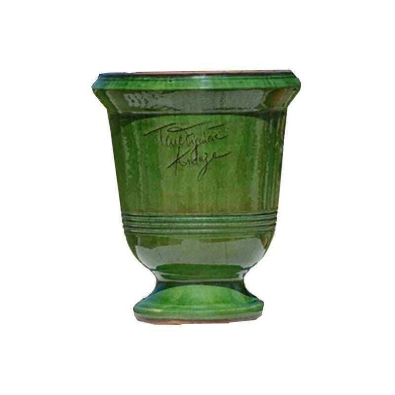Terre Figuière Vase d'Anduze terre cuite Lisse vert Terre Figuière - Taille - Taille 5 : Haut 80 x Diam 66cm