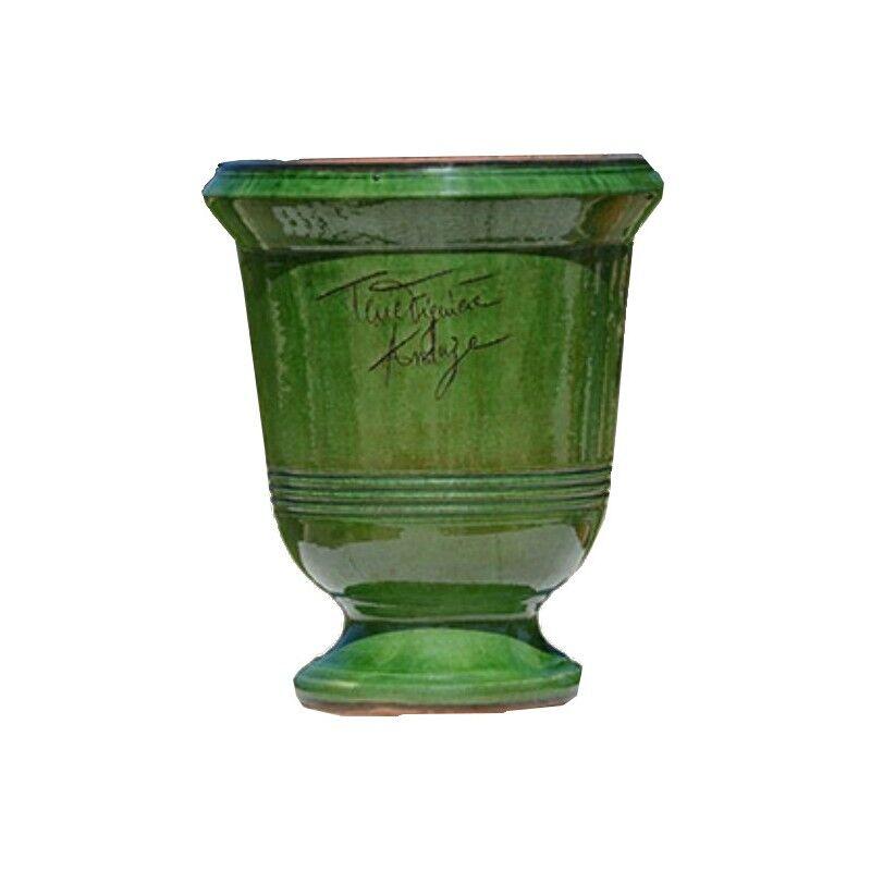 Terre Figuière Vase d'Anduze terre cuite Lisse vert Terre Figuière - Taille - Taille 3 : Haut 58 x Diam 47cm