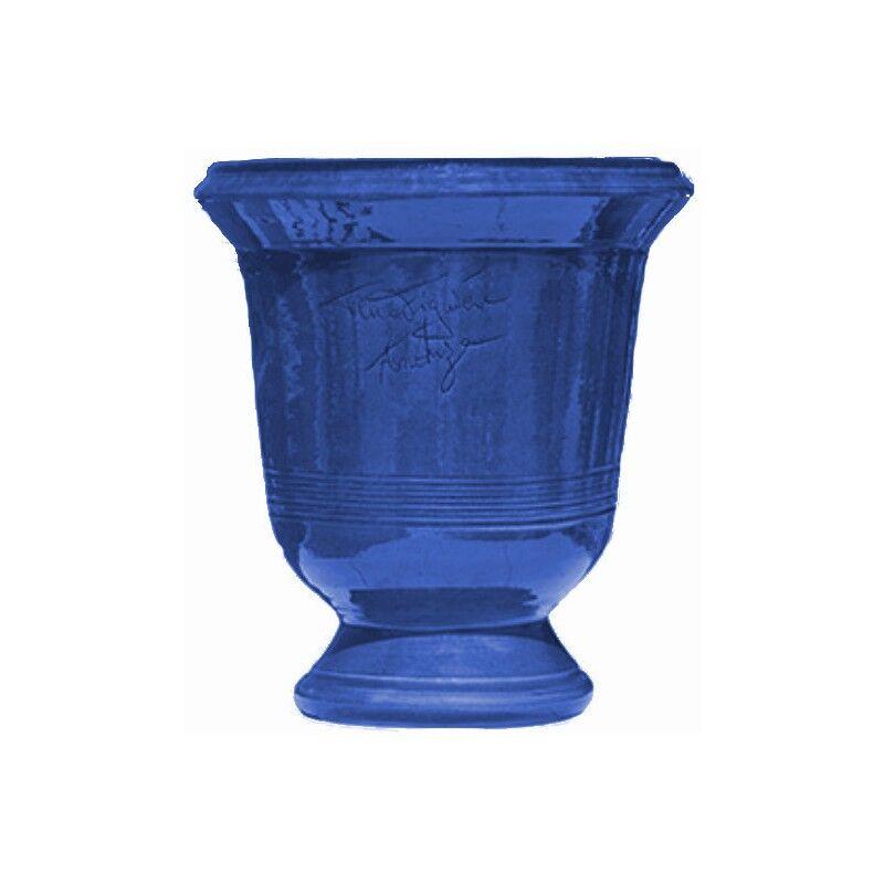 Terre Figuière Vase d'Anduze terre cuite Lisse bleu foncé Terre Figuière