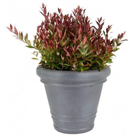 Mega Collections Bac à plantes en plastique rotomoulé Rinca Doppio gris clair D.82xH.63cm - MegaCollections