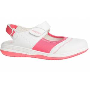 Oxypas Sandale médicale blanche et rose SRC ESD Oxypas Melissa - Publicité