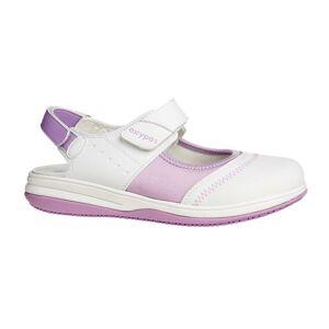 Oxypas Sandale médicale blanche et parme SRC ESD Oxypas Melissa - Publicité