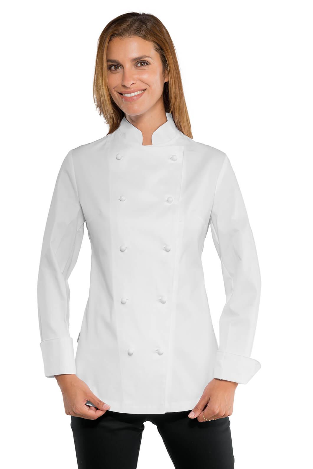 ISACCO Veste blanche de cuisine Lady Chef Stretch