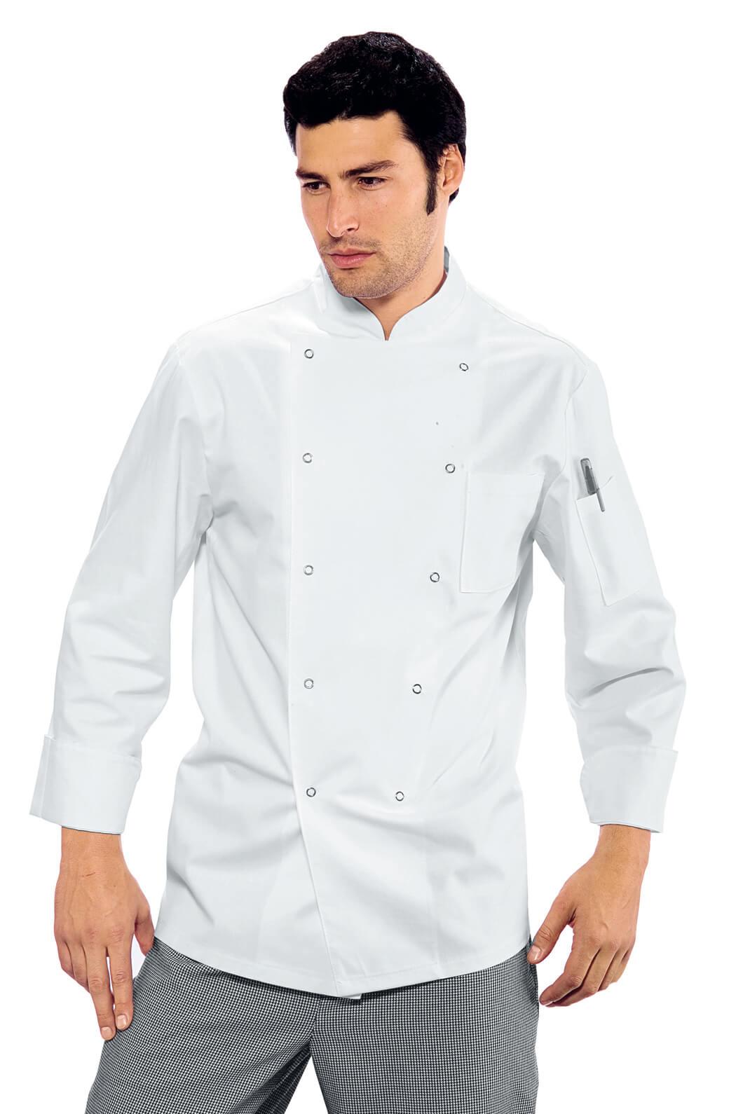 ISACCO Veste de cuisine blanche 100% Coton
