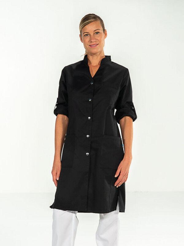 Mylookpro Blouse esthétique noire manches ajustables SARAH