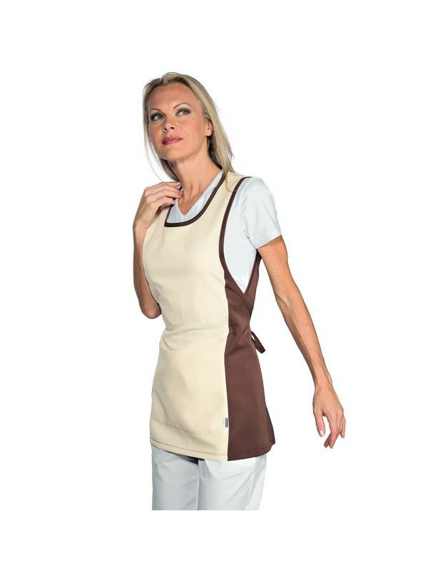 ISACCO Chasuble Médicale Papeete Crème Cacao