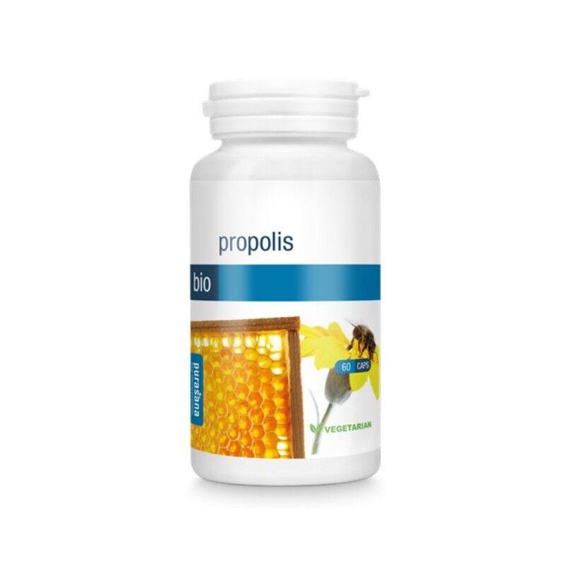 Purasana Propolis bio pour maux de gorge et voies respiratoires 60 capsules