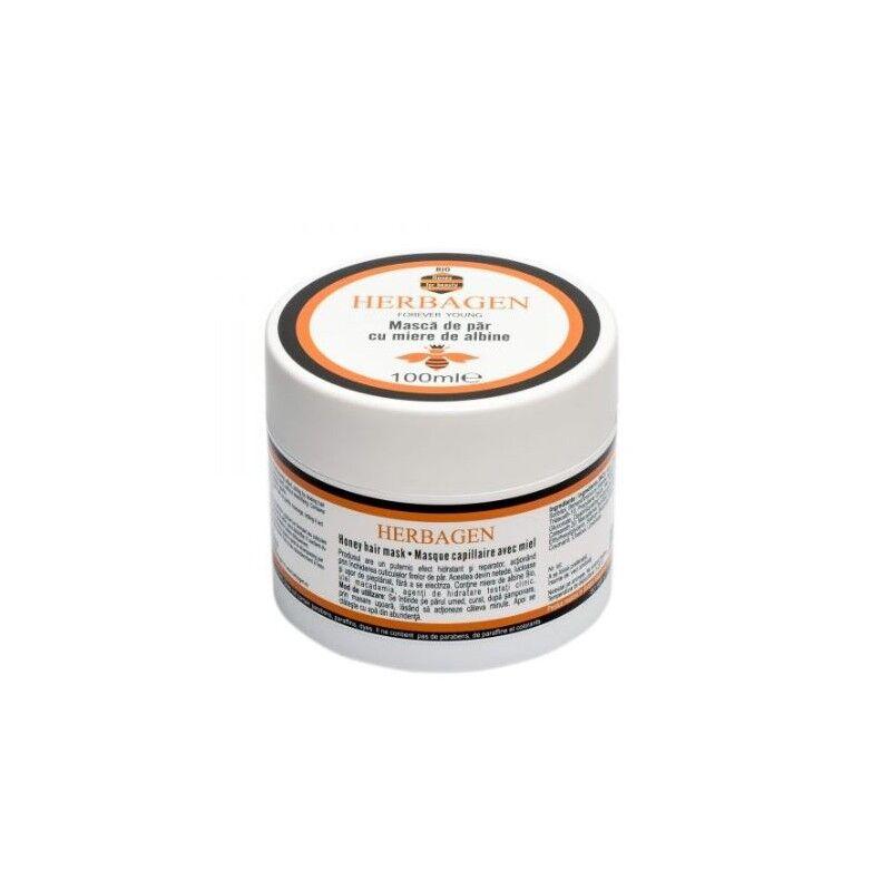 Herbagen masque capillaire au miel bio et huile de macadamia 100 ml