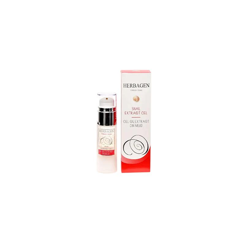 Herbagen gel régénérant pour peau grasse à base de bave d'escargot 97% naturel 30 ml