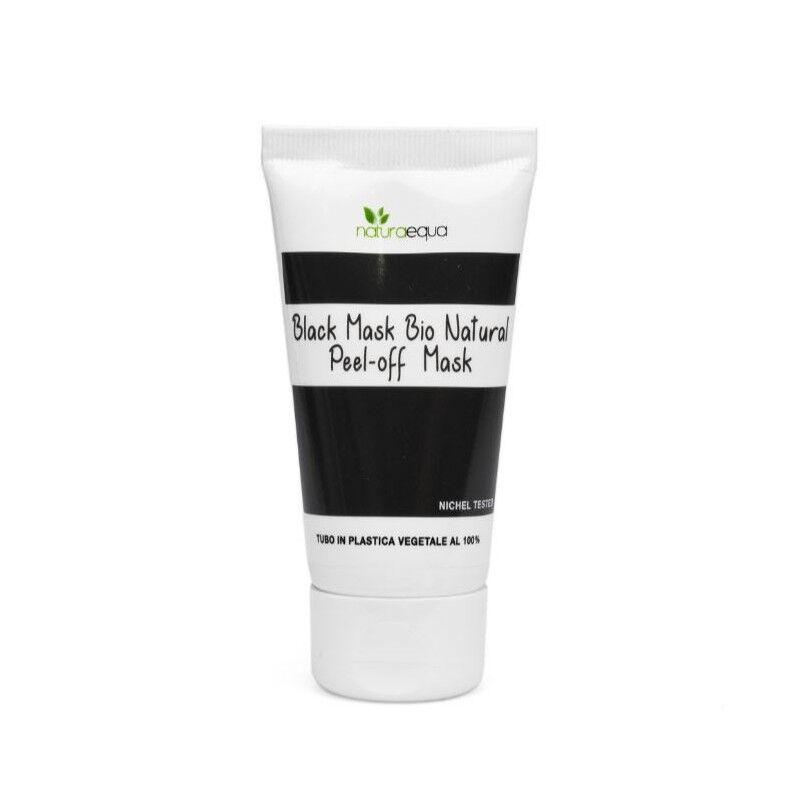 Naturaequa Masque visage exfoliant au charbon végétal (noir) bio 50 ml