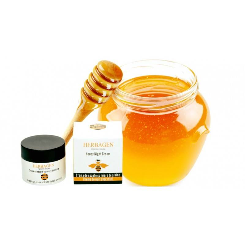 Herbagen crème de nuit à base de miel bio 50 gr