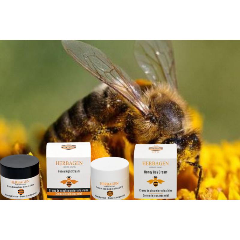 Herbagen duo crème de jour hydratante et crème de nuit à base de miel bio