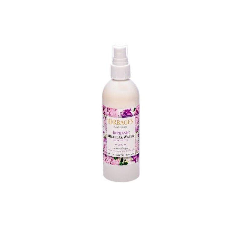 Herbagen eau micellaire collagène marin, macadamia, huile d'olive et noix de coco 150 ml