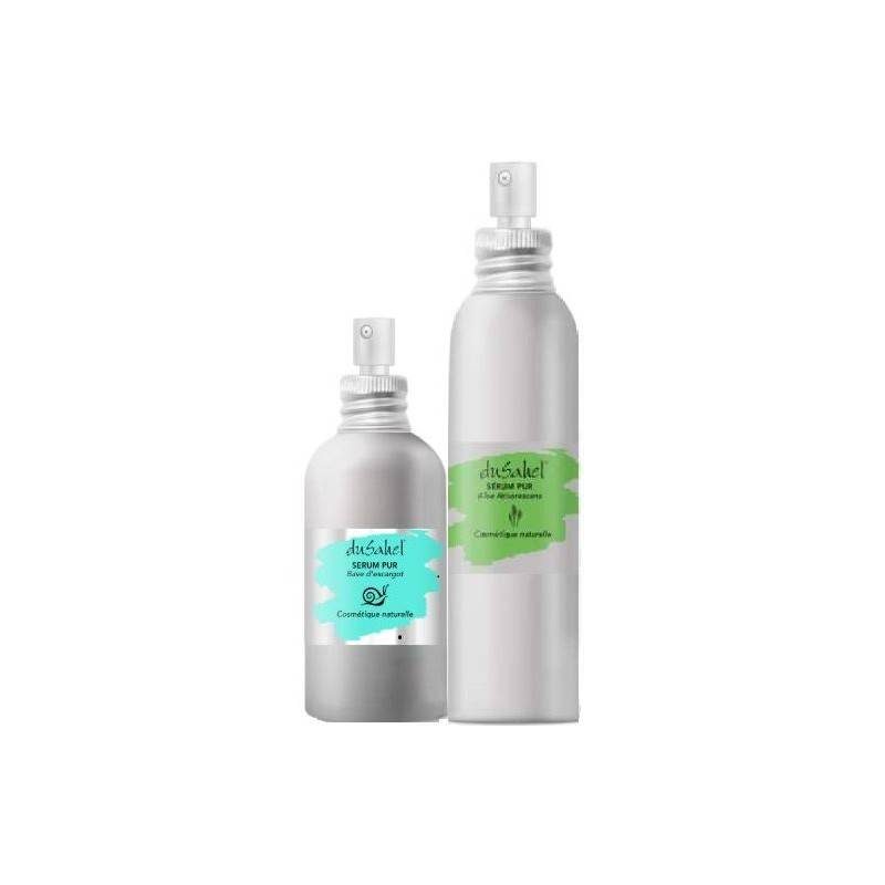 Dusahel duo anti-âge peau sensible, irritée : 1 sérum 100 % bave d'escargot pur bio + 1 sérum aloe arborescens 100% pur bio