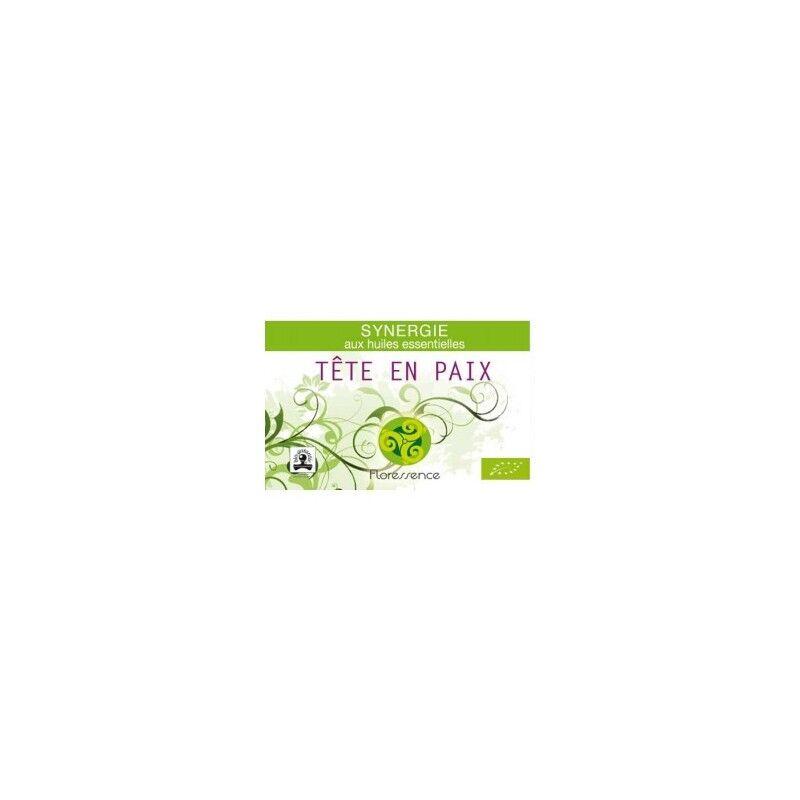 Floressence Synergies Synergie huiles essentielles tête en paix soulage les migraines 100% pure, naturelle et bio