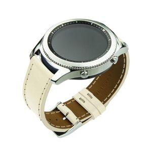 Noreve Bracelet en cuir pour montre connectée - 22mm – Griffe 1 Blanc escumo