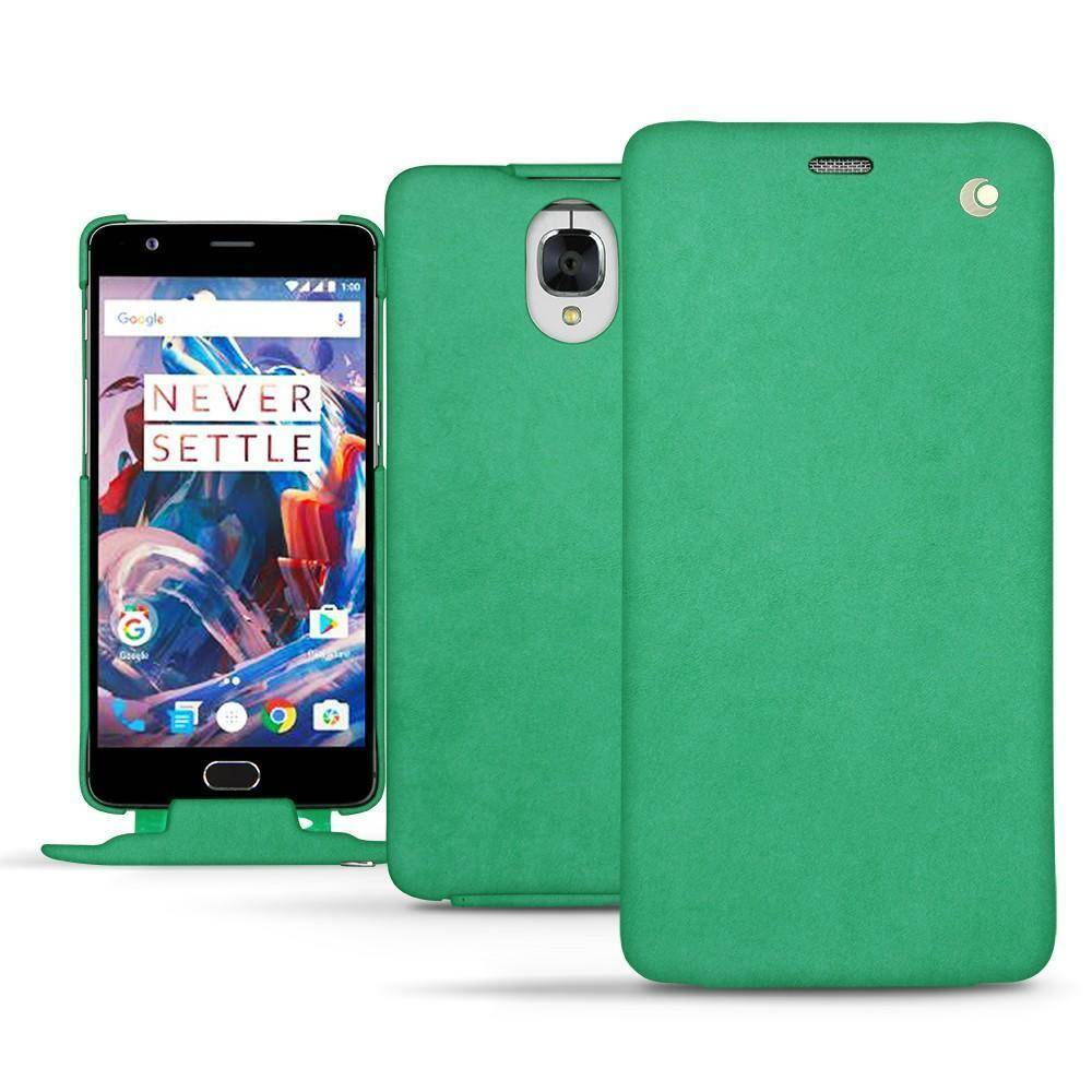 Noreve Housse cuir OnePlus 3 Exception Menthe vintage