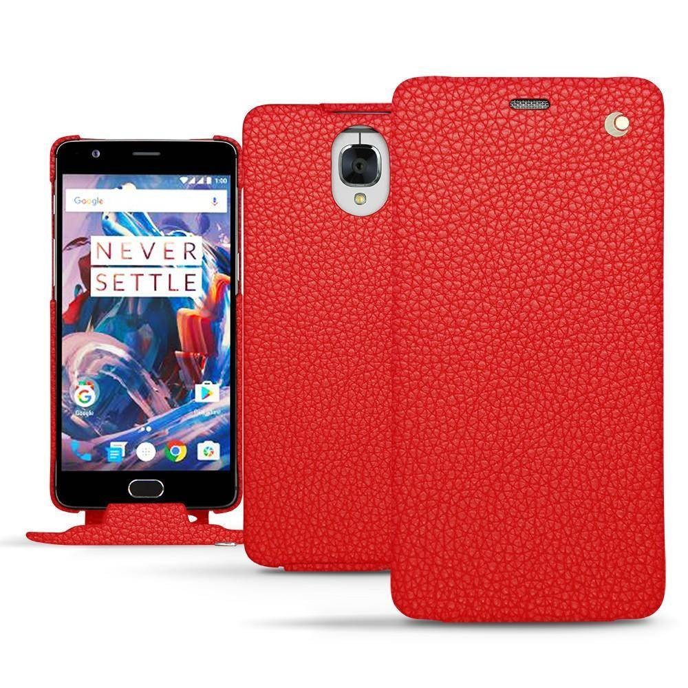 Noreve Housse cuir OnePlus 3 Ambition Tomate
