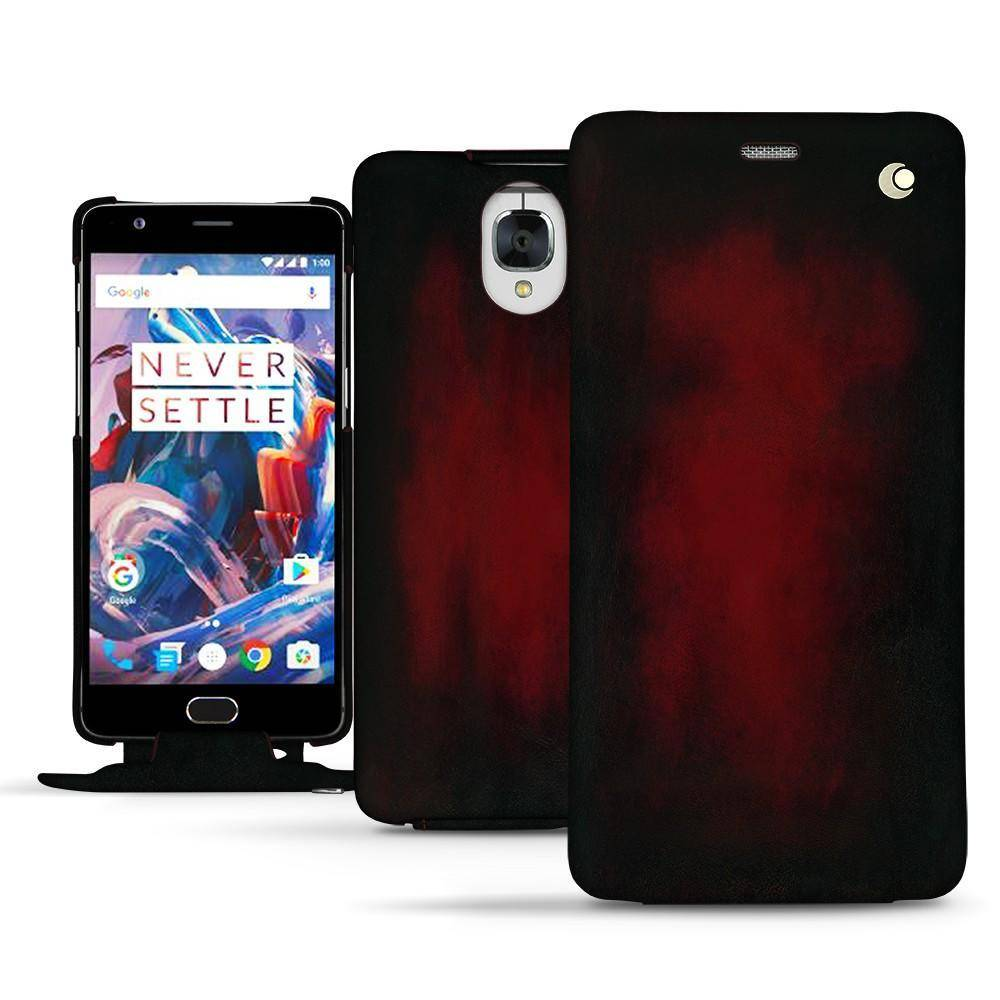 Noreve Housse cuir OnePlus 3 Patine Rouge Patine