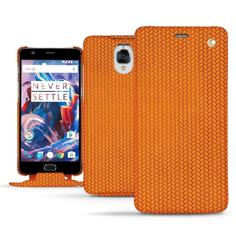 Noreve Housse cuir OnePlus 3 Horizon Abaca arancio