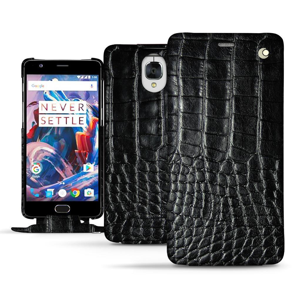 Noreve Housse cuir OnePlus 3 Horizon Crocodile nero
