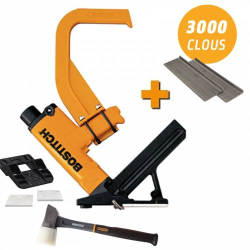 Bostitch LOT BOSTITCH MIIIFN Cloueur à parquet pneumatique avec 3 000 pointes