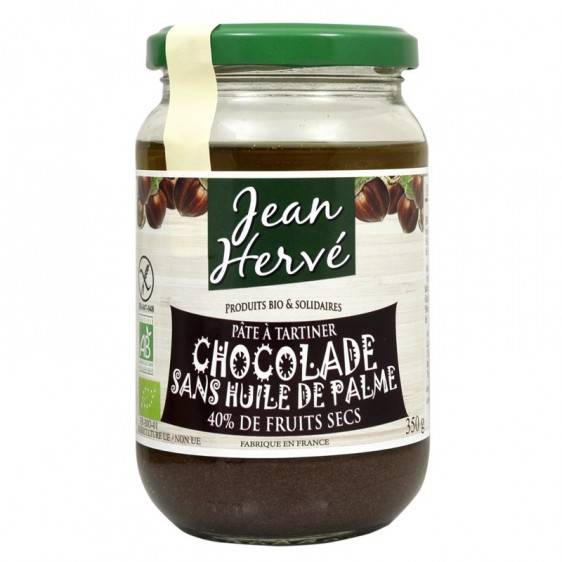 Jean Hervé Pâte à tartiner Chocolade sans huile de palme bio 350g