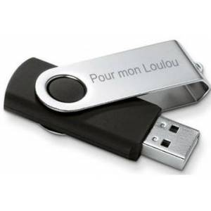 Clé USB gravée - Publicité