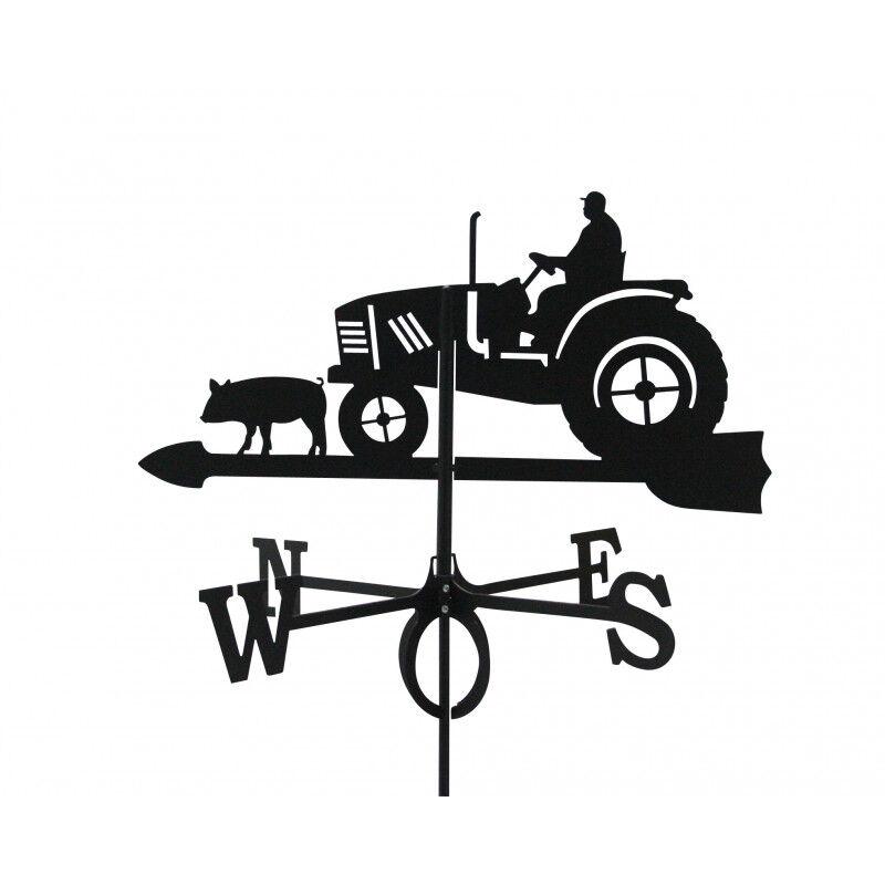 Svens Girouette Fermier sur son Tracteur en fer forgé grand modèle