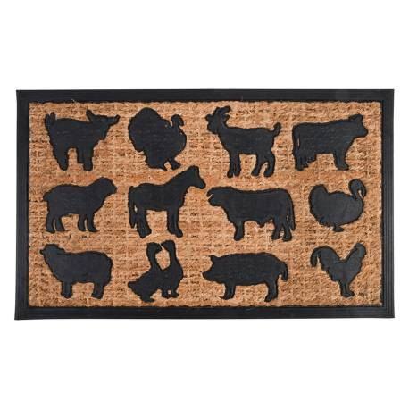 Paillasson caout/coco animaux ferme