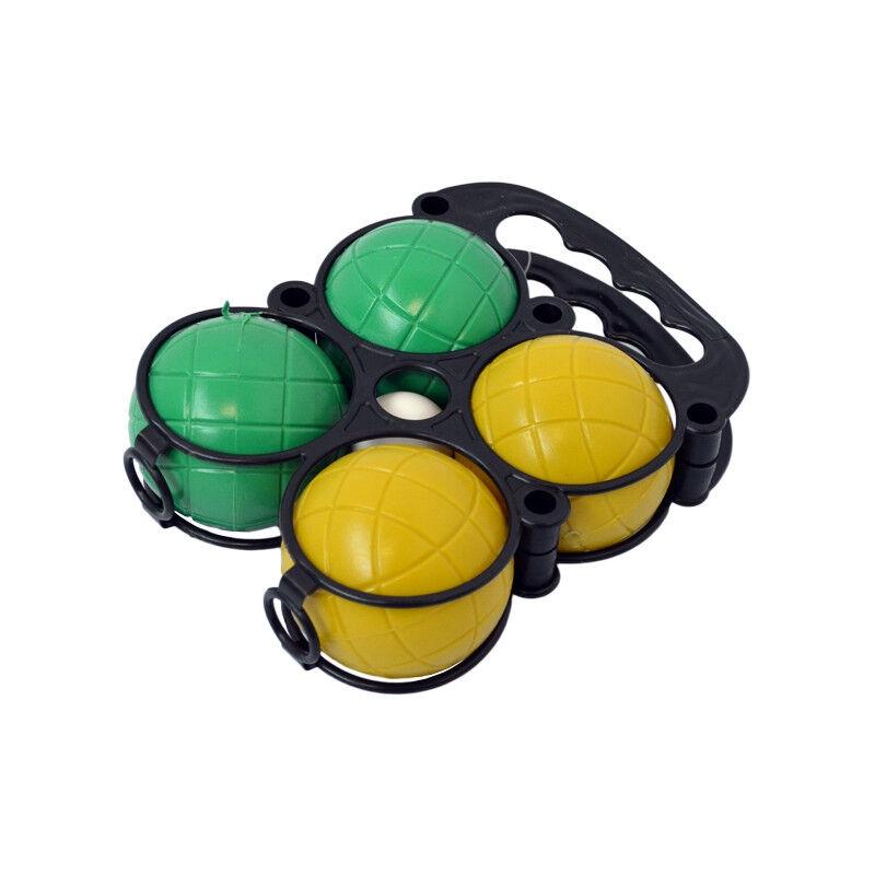COD'EVENTS Set de 4 boules de pétanque et cochonnet en plastique