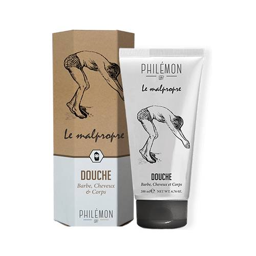 Philémon LE MALPROPRE Shampooing Douche Barbe, Cheveux & Corps