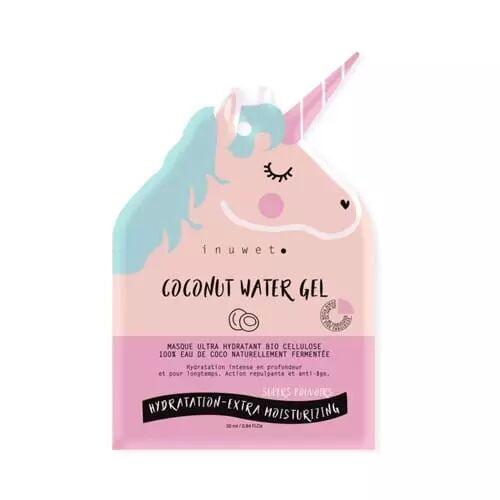 Inuwet COCONUT WATER GEL Masque Visage Ultra Hydratant Bio Cellulose Eau de coco