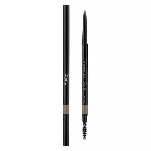 Yves Saint Laurent COUTURE BROW SLIM Crayon pour les sourcils. Ultrafin. Longue Tenue 24h. Résistant à l'eau. 01 Blond Cendré