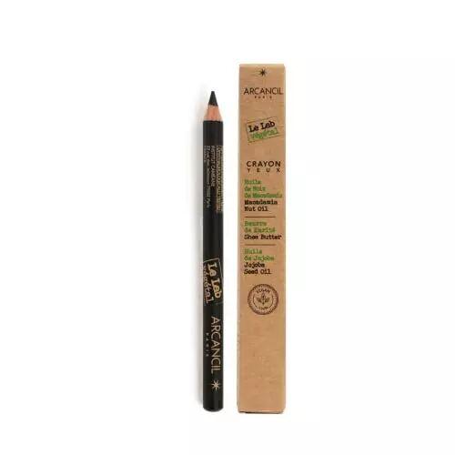 Arcancil Vegetal CRAYON YEUX Crayon Yeux Vegan – Texture Nourrissante Ultra Confortable 001 Noir
