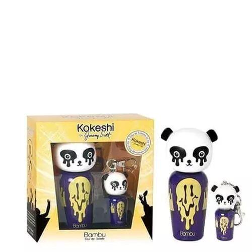Kokeshi COFFRET BAMBU BY JEREMY SCOTT Porte-clés + Eau de Toilette Vaporisateur