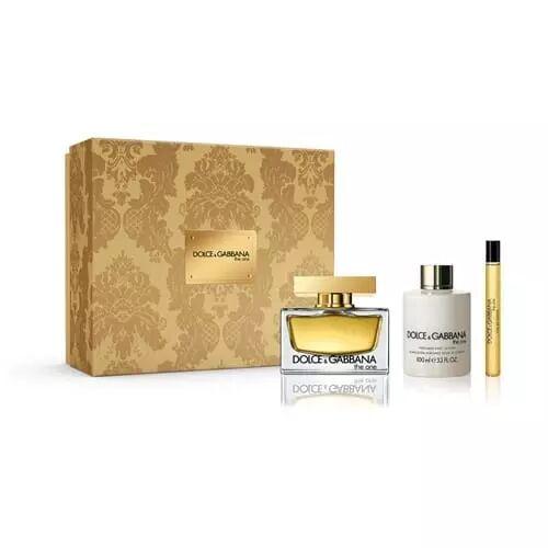 Dolce & Gabbana COFFRET THE ONE Eau de Parfum 75 ml + Lait corps 100 ml + vapo sac 10 ml