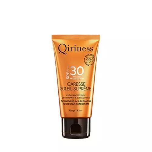 Qiriness CARESSE SOLEIL SUPRÊME VISAGE SPF30 Crème Protectrice Détoxifiante & Sublimatrice SPF30