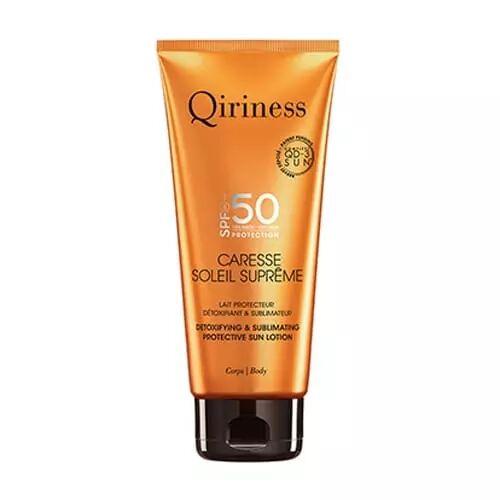 Qiriness CARESSE SOLEIL SUPRÊME CORPS SPF50 Lait Protecteur Détoxifiant & Sublimateur SPF50