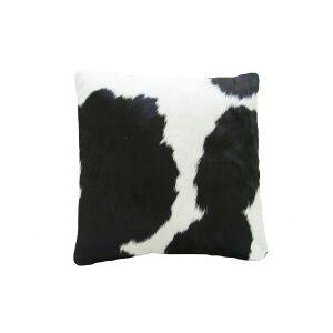 Coussin en peau de vache Noire & Blanche SIMPLE FACE