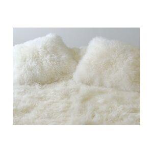 Coussin en agneau de Mongolie blanc SIMPLE FACE