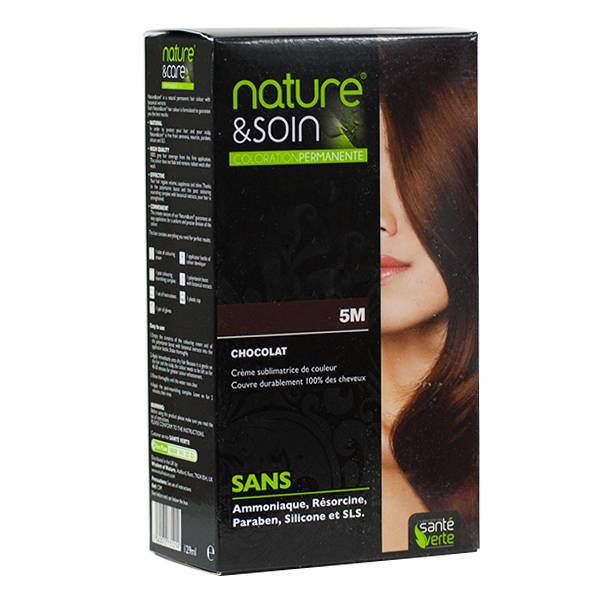 6407926 Santé Verte Nature & Soin Coloration Permanente Chocolat 5M
