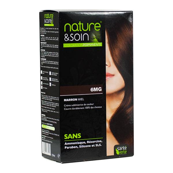 6407955 Santé Verte Nature & Soin Coloration Permanente Marron Miel 6MG
