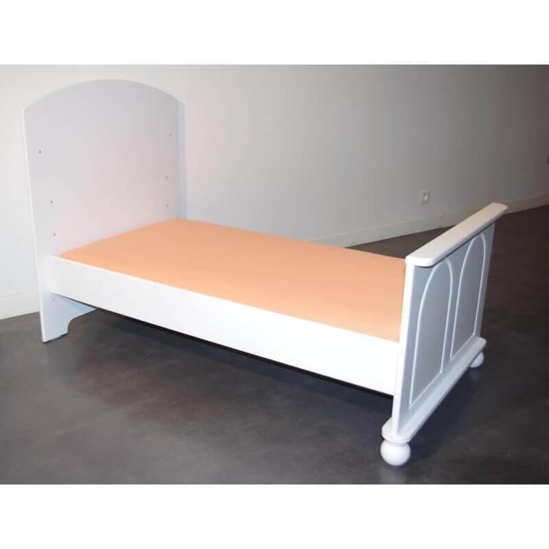 Drap Housse 90 cm x 50 cm pour lit bébé et berceau - Disponible en 11 couleurs - Orange